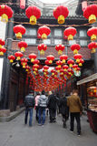 Templo chinês do ano 2013 novo justo em Chengdu Foto de Stock Royalty Free