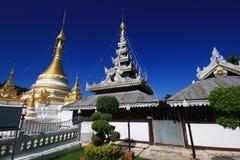 Templo Chong Klang y Chong Kham (public domain del templo antiguo) Imagenes de archivo