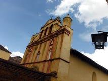 Templo colonial de San Nicolas en San Cristobal Imagen de archivo