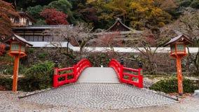 Templo com cores da queda, Osaka de Ryuanji foto de stock royalty free