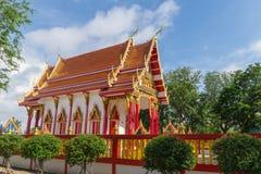 Templo con el fondo del árbol y del cielo Fotos de archivo