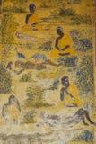Templo con la pintura antigua sobre la ley de karmas desde el año 1928 Imágenes de archivo libres de regalías