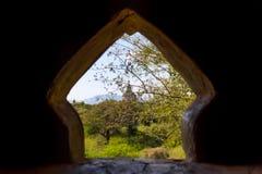 Templo con la religión del cielo de la luz de la ventana Imágenes de archivo libres de regalías