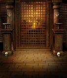 Templo con los cráneos ilustración del vector
