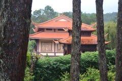 Templo con los dibujos hermosos Foto de archivo libre de regalías