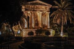 Templo conmemorativo en La Valeta fotos de archivo
