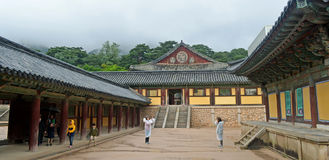 Templo coreano Fotografia de Stock