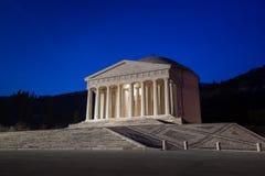 Templo cristiano de Antonio Canova Arquitectura religiosa romana y griega, construyendo como panteón y parthenon Iglesia en Itali fotos de archivo libres de regalías