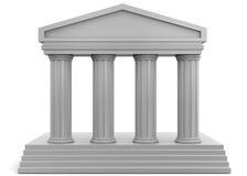 Templo - 3D ilustração do vetor