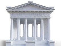 templo 3d romano clássico fotografia de stock