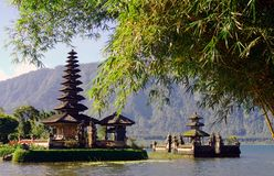 Templo da água de Bali Fotografia de Stock