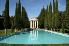 Templo da água de Pulgas fotos de stock royalty free