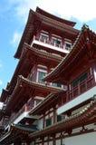 Templo da Buda com estrutura de telhado alta Fotografia de Stock Royalty Free