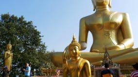 Templo da Buda dourada grande, Pattaya tailândia video estoque