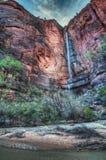 Templo da cachoeira de Sinawava imagem de stock royalty free
