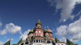 Templo da catedral da manjericão de Saint da manjericão o quadrado abençoado, vermelho, Moscou, Rússia vídeos de arquivo