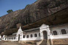 Templo da caverna de Dambulla fotografia de stock