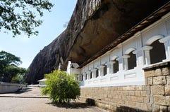 Templo da caverna de Dambulla, Sri Lanka Foto de Stock