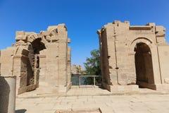 Templo da cidade de Habu - Egito fotografia de stock royalty free