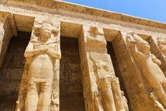 Templo da cidade de Habu em Luxor foto de stock