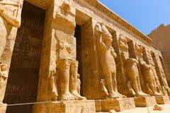 Templo da cidade de Habu em Luxor imagem de stock royalty free