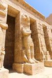 Templo da cidade de Habu em Luxor fotos de stock
