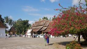 Templo da cidade dourada em Luang Prabang, Laos Imagem de Stock Royalty Free