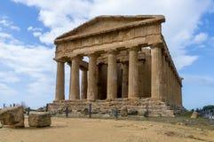 Templo da concórdia, Agrigento Fotografia de Stock Royalty Free