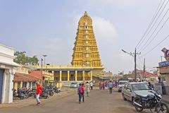Templo da deusa Chamunda Fotografia de Stock