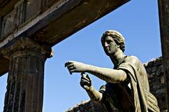 Templo da estátua de Apollo em Pompeia Fotos de Stock