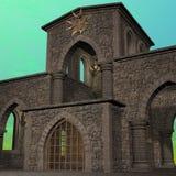 Templo da fantasia no alvorecer Imagens de Stock