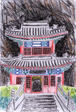 Templo da ilustração Ilustração Royalty Free
