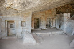 Templo da lua no machu-picchu Fotografia de Stock Royalty Free