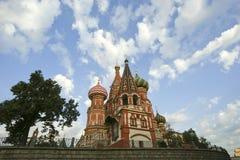 Templo da manjericão abençoada, Moscou, Rússia, quadrado vermelho Foto de Stock Royalty Free