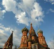Templo da manjericão abençoada, Moscou, Rússia, quadrado vermelho Imagens de Stock Royalty Free