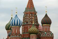 Templo da manjericão abençoada, Moscou, Rússia, quadrado vermelho Fotos de Stock