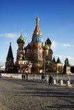 Templo da manjericão do abençoado em Moscou Imagem de Stock