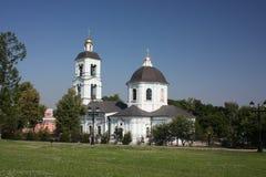 Templo da matriz do ícone do deus em Tsaritsyno. fotos de stock