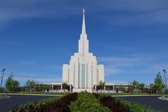 Templo da montanha de Oquirrh Fotografia de Stock Royalty Free