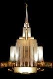 Templo da montanha de Oquirrh na noite Imagem de Stock