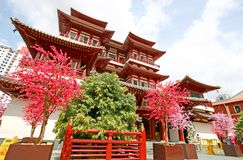 Templo da relíquia do dente de Buddha em Singapore Foto de Stock Royalty Free