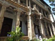 Templo da relíquia sagrado Sri Dalada Maligawa do dente em Kandy, Sri Lanka Templo budista das relíquias dos detalhes situado n fotos de stock
