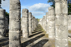 Templo das 1000 colunas em Chichen Itza, México Imagem de Stock Royalty Free