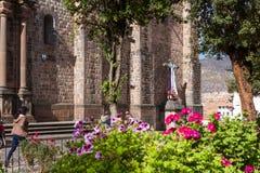 Templo de圣多明哥,库斯科秘鲁 库存照片