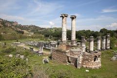 Templo de Ártemis, Sardis imagens de stock royalty free