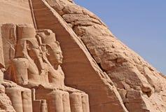 Templo de Abu Simbel foto de archivo