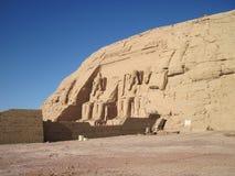 Templo de Abu Simbel en Egipto Imagen de archivo libre de regalías