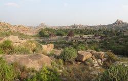 Templo de AchyutaRaya en Vijayanagara Imagen de archivo