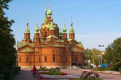 Templo de Alexander Nevsky chelyabinsk fotografia de stock