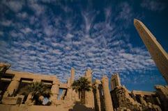 Templo de Amun, templo de Karnak, Egipto. Imagen de archivo